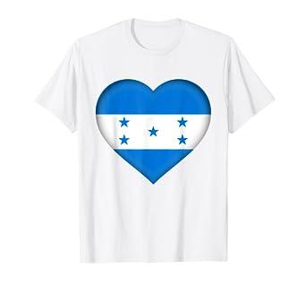 Amazon.com: Camiseta con la bandera hondureña con el texto ...