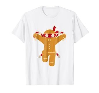 Amazon.com: Navidad gingja Ninja playera de hombre de ...
