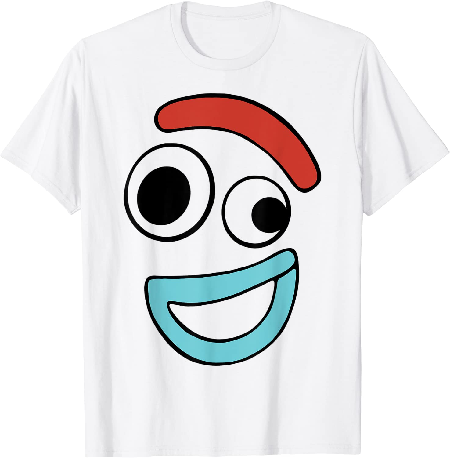 Disney Pixar Toy Story 4 Forky Large Happy Face T-Shirt