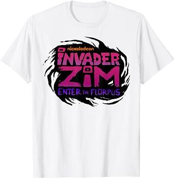 Teens Inva-der Zim Logo Tshirts for Girls and Boys Long Sleeve Tees Cotton Sports Tops