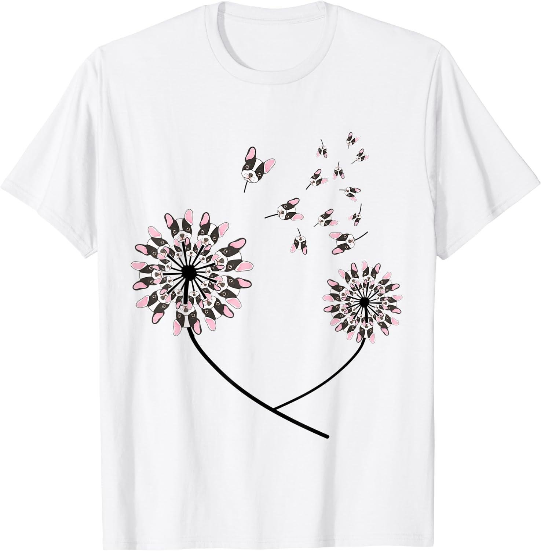 Flower Pug Dog Dandelion Funny Pet Lover Team Gift T Shirt