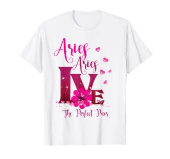 Amazon.com: Aries Zodiac - Cartel de camisa con texto en ...