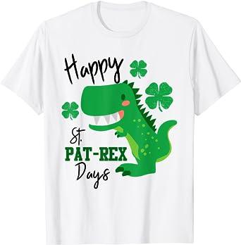 St Patrex Funny Irish T-Rex St Patricks Day Dino Boy Kids T-Shirt