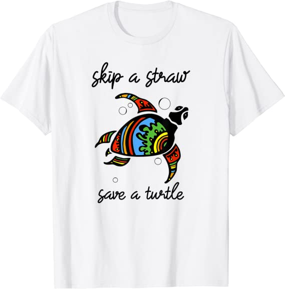 Save the Turtles Shirt Skip A Straw Save A Turtle Sea Turtle Shirt. Turtle Shirt Beach Lover Tee Surfer Life Love Turtle Tshirt