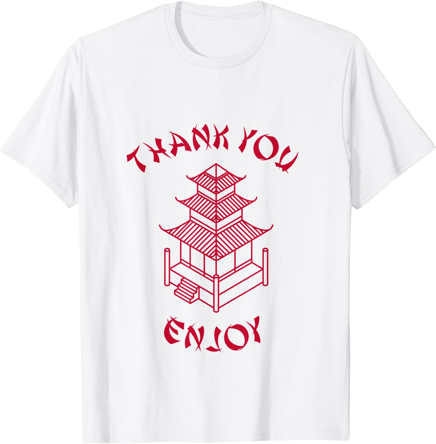 Chinese Takeout Food Thank You Enjoy Funny Tshirt Costume T-Shirt