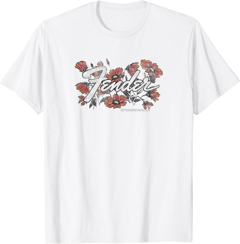 Fender Flowers Logo T-Shirt