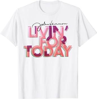 John Lennon - Livin' For Today T-Shirt