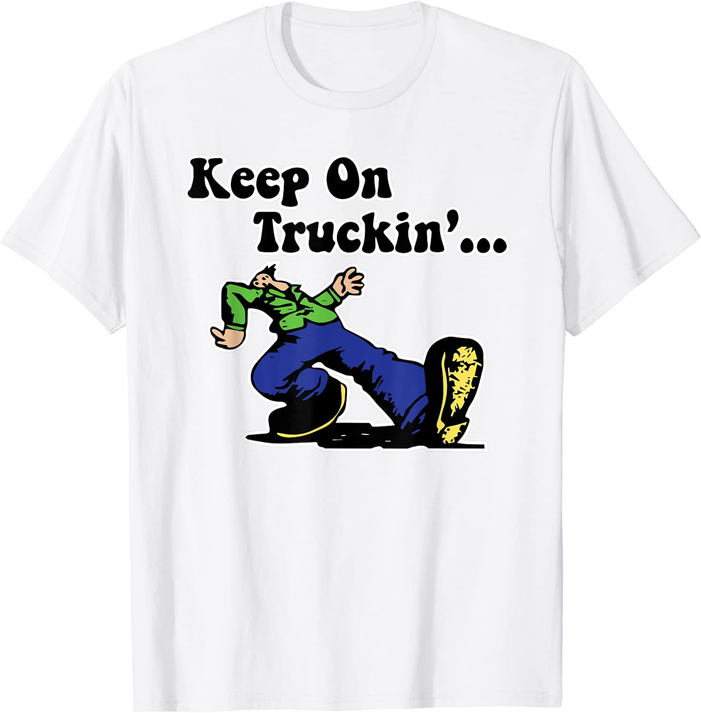 Robert Keep On Truckin T Shirt Funny Black Cotton Tee Vintage Gift For Men Women