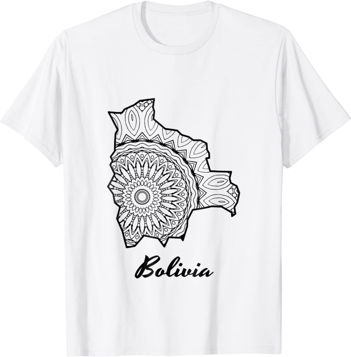 Amazon Com Bolivia T Shirt Coloring Page Tee Clothing