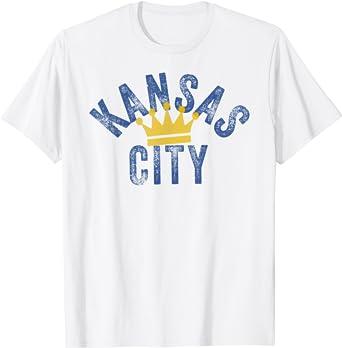 Crown Town Kansas City KC Blue Varsity Style Cool KC Fanatic T-Shirt