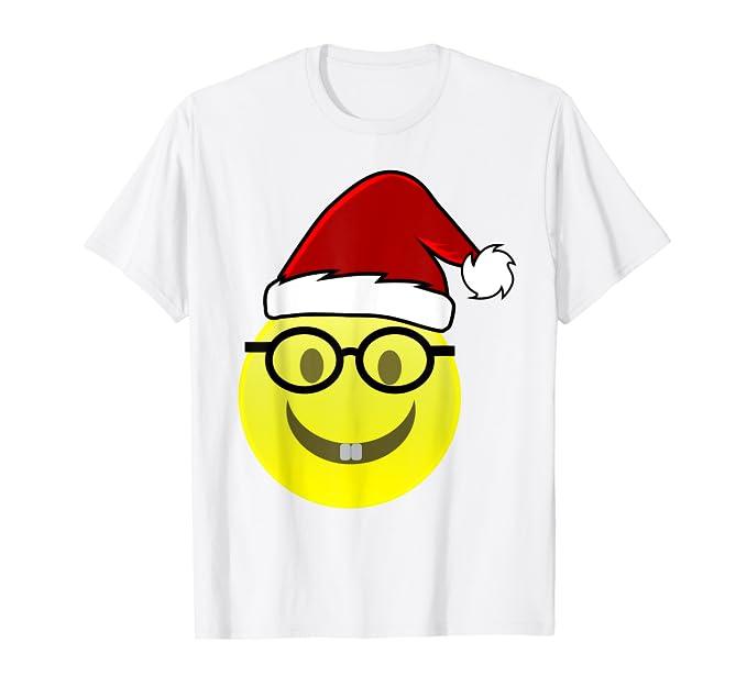 Amazon.com: Gorro de Papá Noel Camisa de Navidad Emoji ...