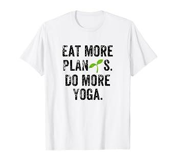 Amazon.com: Funny Vegan Gift Eat More Plants Do More Yoga ...