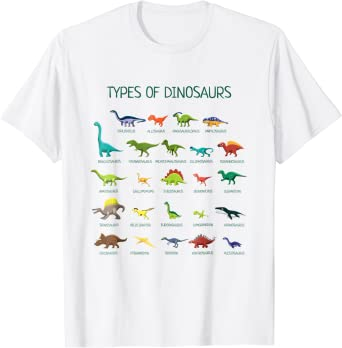 T-Shirt Dinosaur Women Ladies Tops Blouse O Neck Short Sleeve White Basic Tee