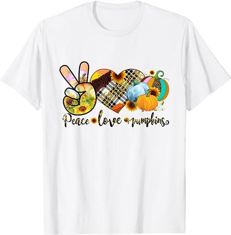 Peace Love Pumpkin Shirt Masswerks Store