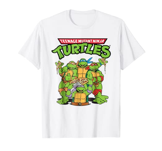 Amazon.com: teenage mutant ninja turtles Pizza Crew playera ...