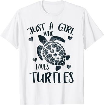 Juste une fille qui aime les tortues - Amant des tortues T-Shirt