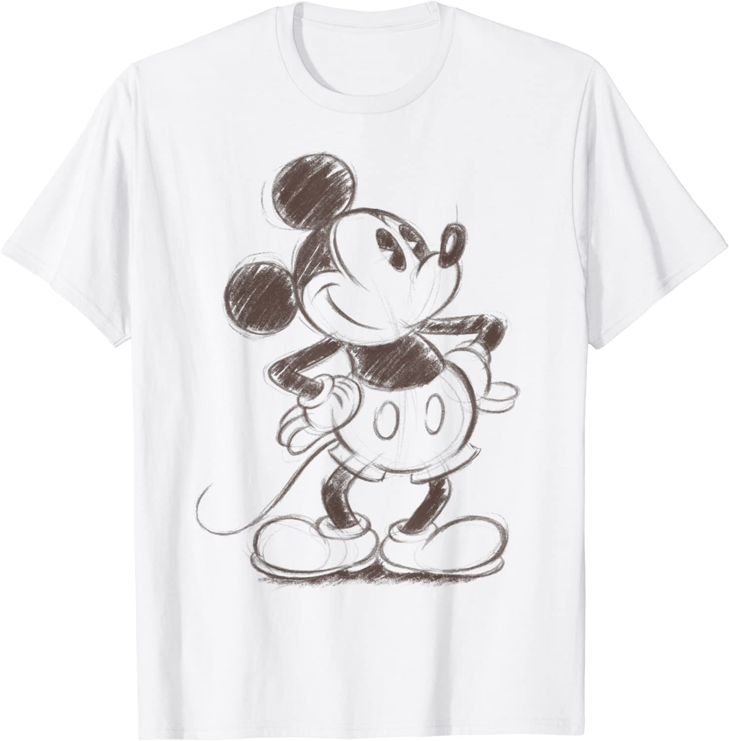 Disney Mickey And Friends Mickey Mouse Sketch Portrait T-Shirt