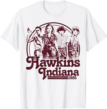 Netflix Stranger Things Hawkins Indiana Group Shot 1985 T-Shirt