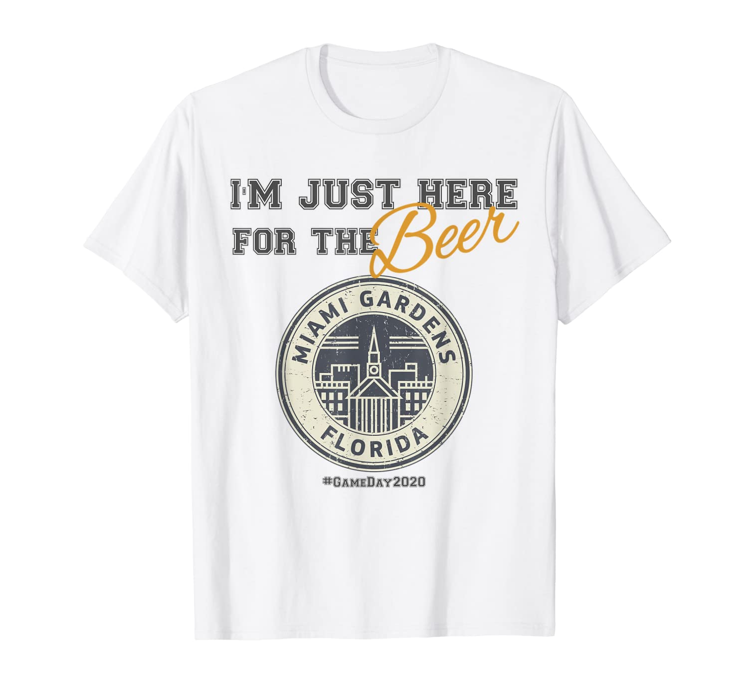 Super Game Bowl 2020 I'm Just Here for the Beer Shirt T-Shirt
