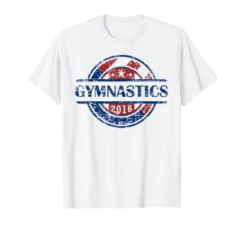 Amazon.com: Bandera americana Gimnasia 2016 Camisa, EE. UU ...