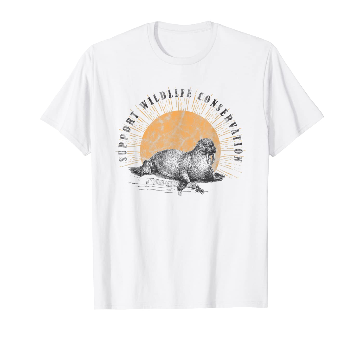 Walrus Wildlife Conservation Animal Lover Gift T-Shirt-Yolotee