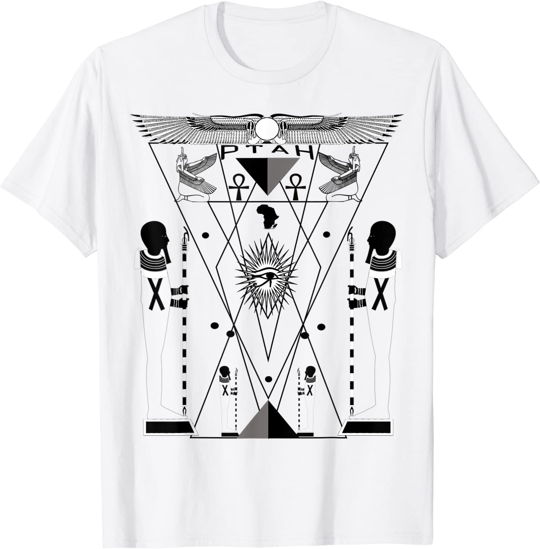 Sacred Geometry Science Egyptian HORUS HERU T-Shirt