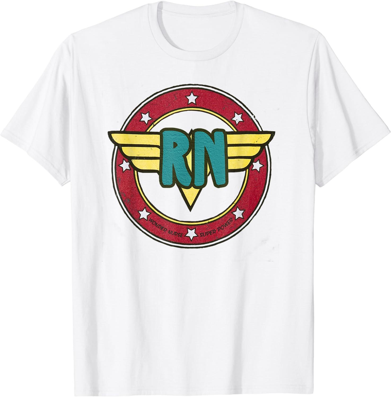 Super Nurse RN superhero Registered Nurse Hero T-Shirt Vintage Men Gift Tee