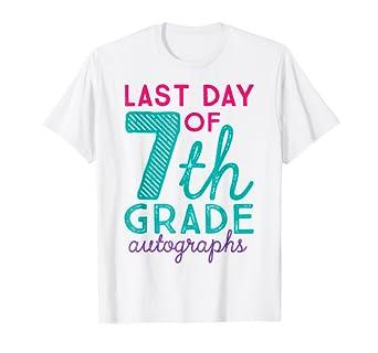 Amazon.com: Camiseta de 7º grado para maestro con autógrafos ...