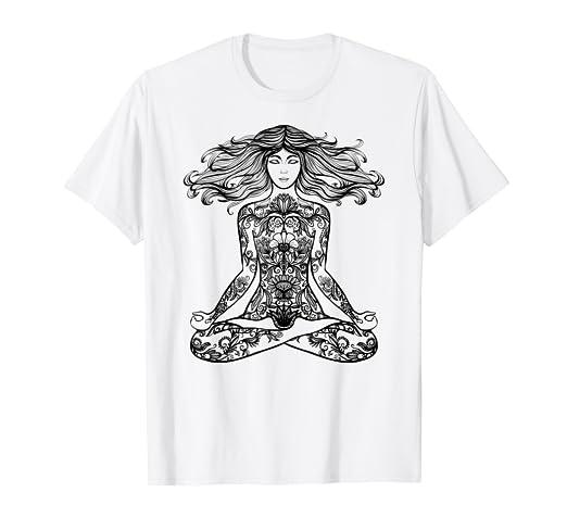 Amazon.com: Yoga Pose Shirt Buddha Meditation & Exercise Men ...