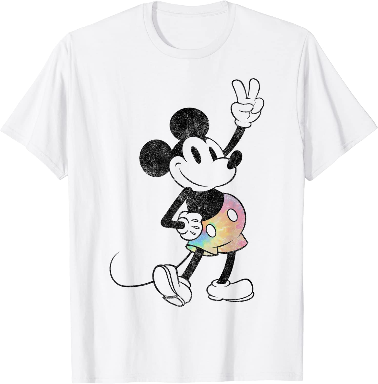 Mickey outline it all started with a mouse kids t-shirt