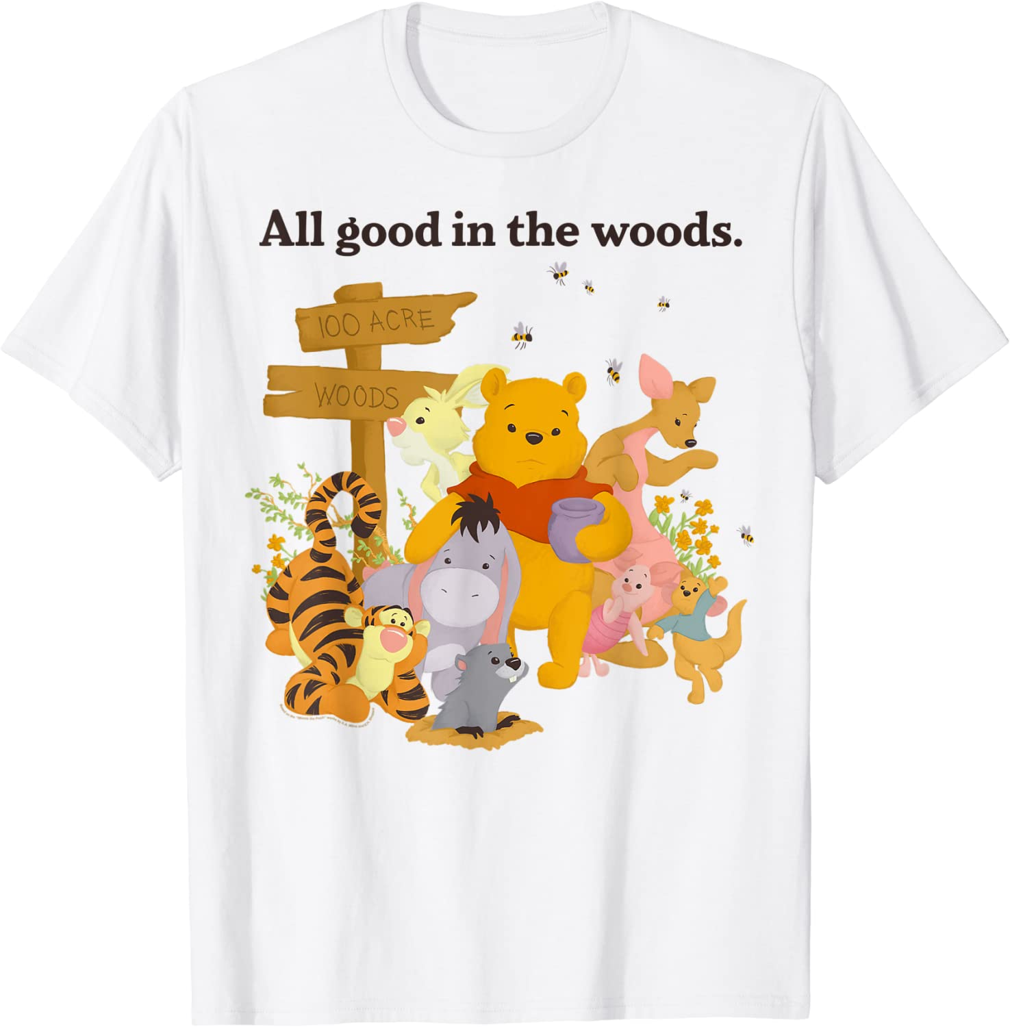 Disney Winnie The Pooh Group Shot All Good In The Woods T-Shirt
