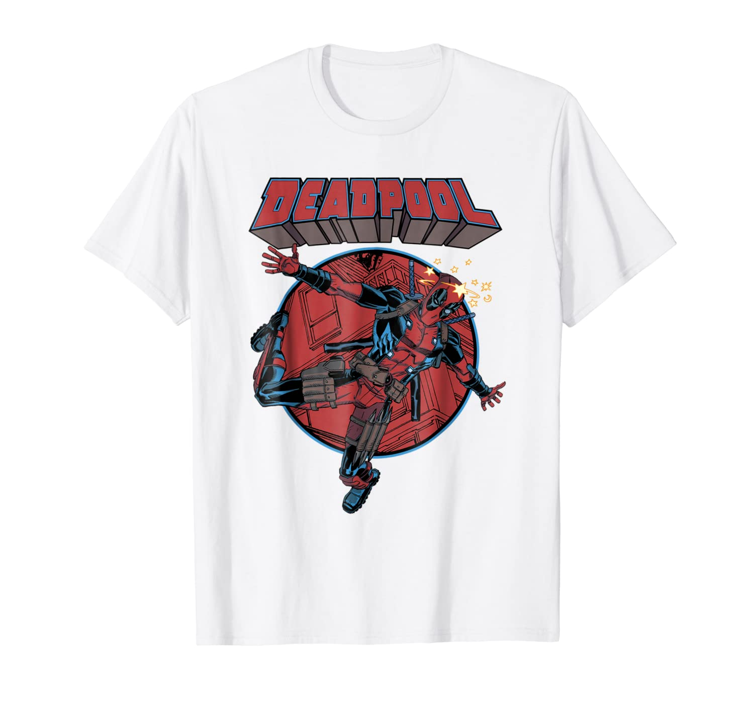 Amazon.com: Marvel Deadpool Falling chupete Graphic T-Shit ...