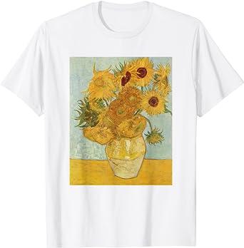 Vintage 90s Vincent Van Gogh Sunflowers Art T-Shirt