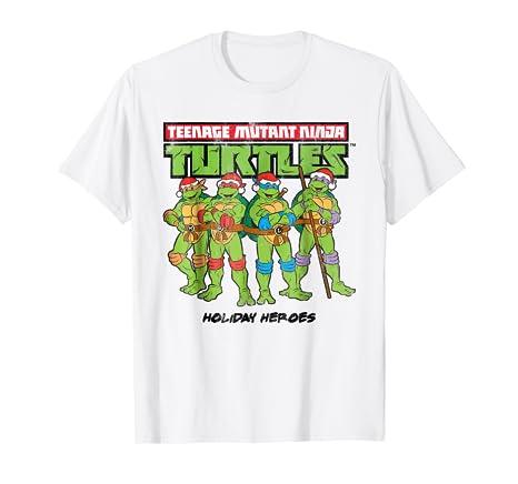 Amazon.com: Teenage Mutant Ninja Turtles Santa Hat Group Tee ...