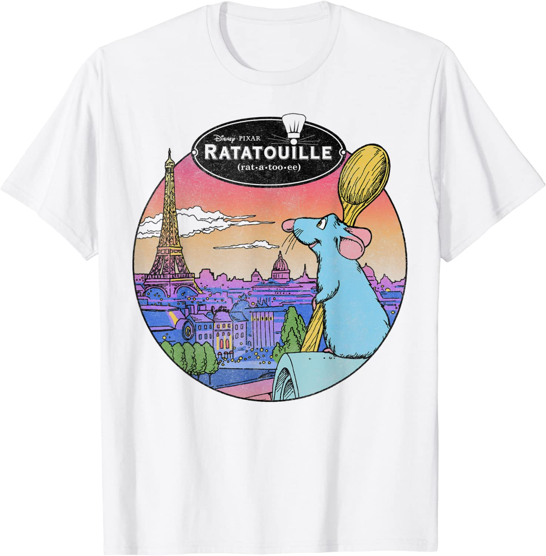 Disney Pixar Ratatouille Over Look Paris T-Shirt
