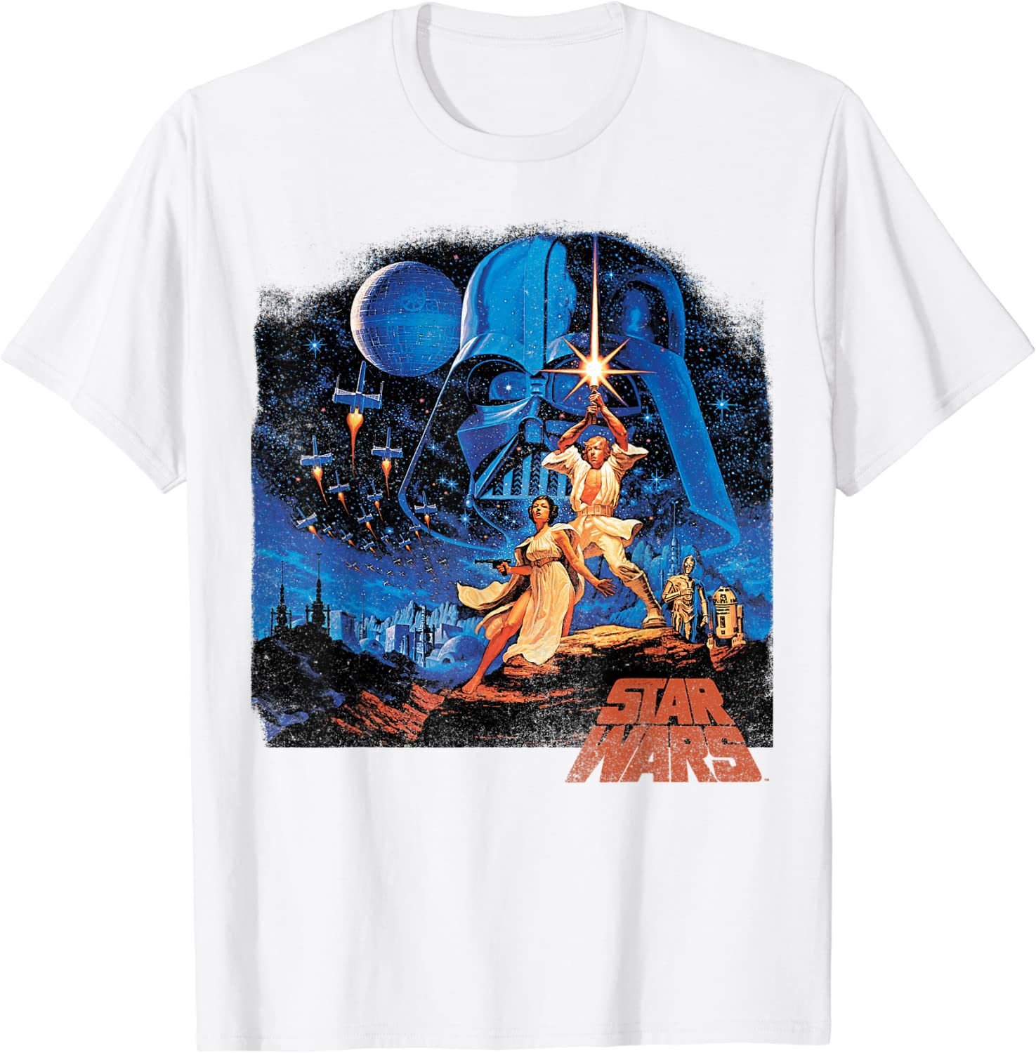 Star Wars A New Hope Classic Vintage Poster T-Shirt C2