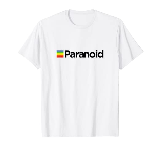 76b074b3bc1e Image Unavailable. Image not available for. Color  Paranoid - Aesthetic  Vintage Vaporwave Fashion T Shirt