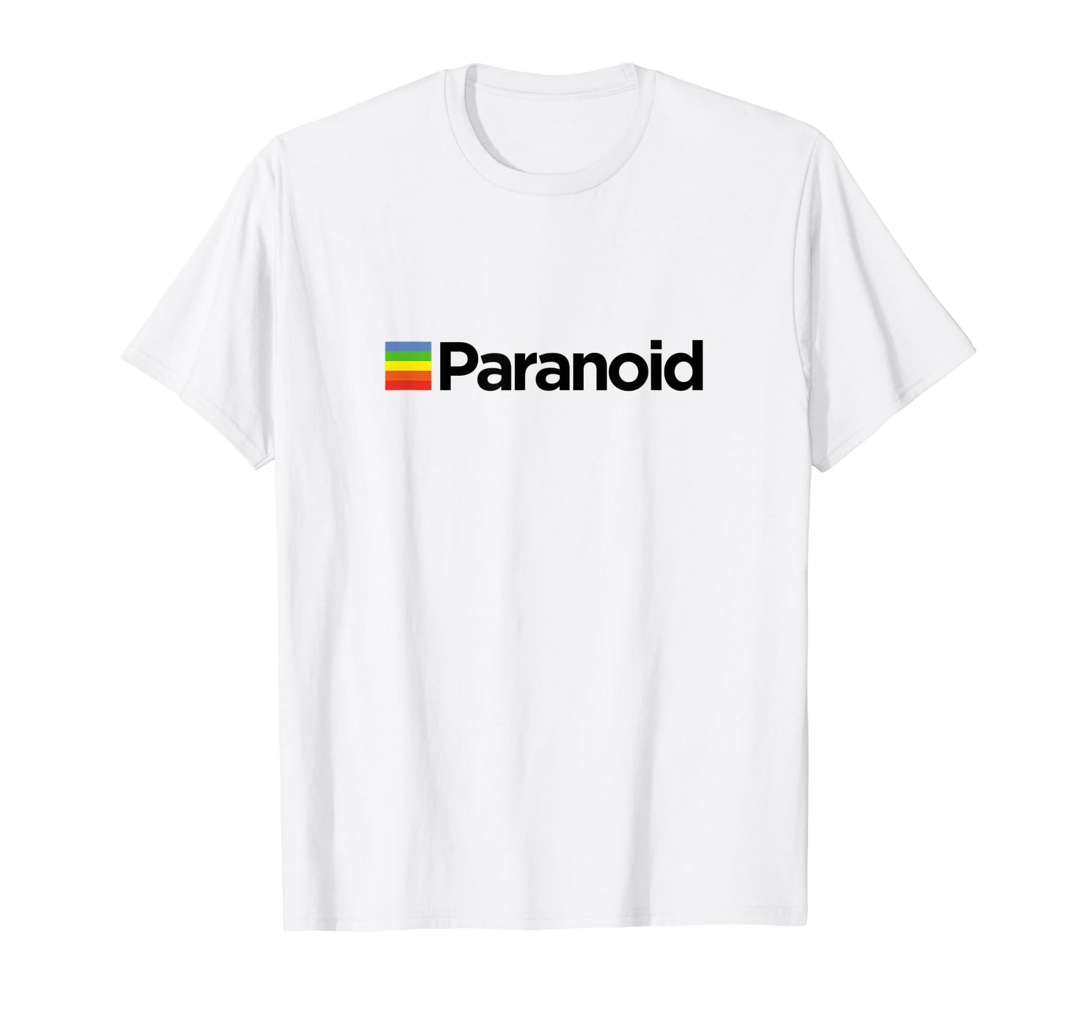 0517b8935 Amazon.com: Paranoid - Aesthetic Vintage Vaporwave Fashion T Shirt: Clothing