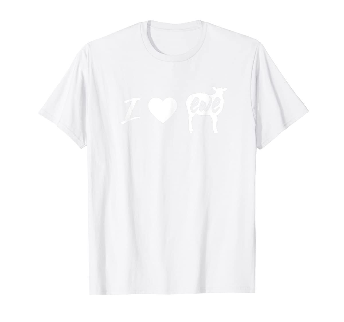 I Love Ewe - I Love You Sheep Pun Shirt-Men's T-Shirt-White