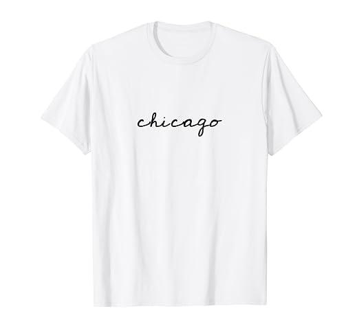 ef017a681 Amazon.com: Chicago Cursive Minimalist Shirt: Clothing