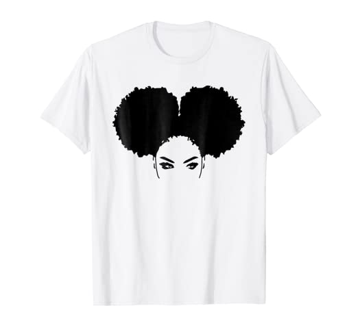 b8feeb3e Image Unavailable. Image not available for. Color: Strong Black Woman  Natural Curly Girl Afro Hair T-Shirts
