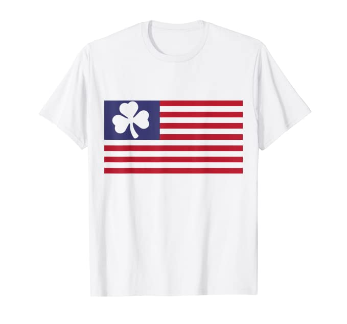 Awesome American Flag St Patrick's Day - T-Shirt
