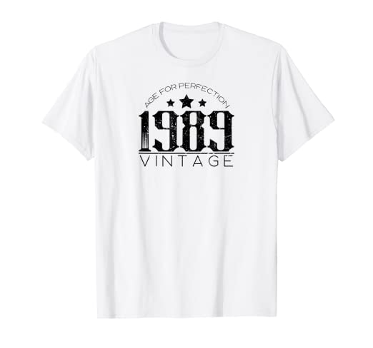 Image Unavailable Not Available For Color Vintage 1989 T Shirt Best 30th Birthday Gift Men