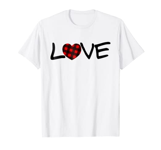 2f3b5e6bebf2f0 Image Unavailable. Image not available for. Color  Buffalo Plaid Heart love valentines  day lover shirt