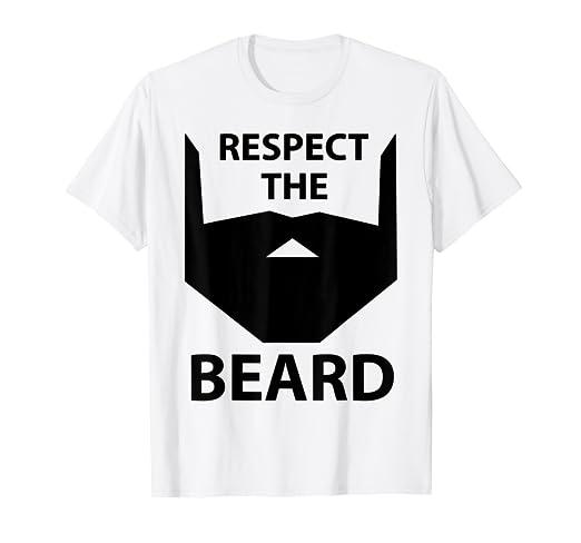 Amazon com: Respect The Beard Men's Husband, Father Gift Novelty T