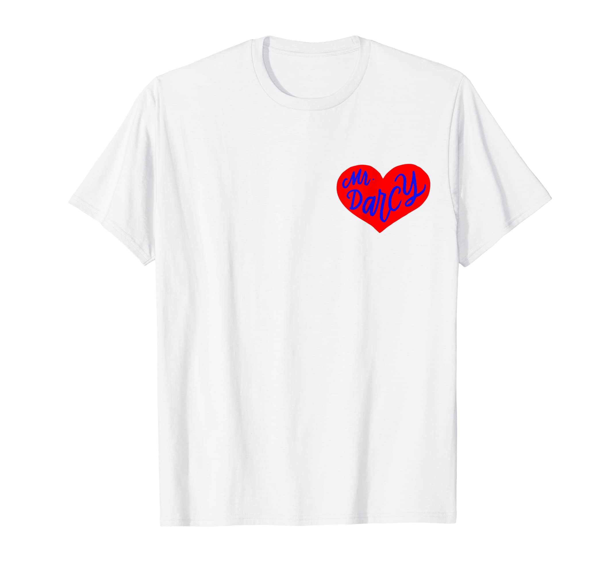 acdc0ff12a Amazon.com  Jane Austen Collection Mr Darcy Love Heart Pocket T-Shirt   Clothing