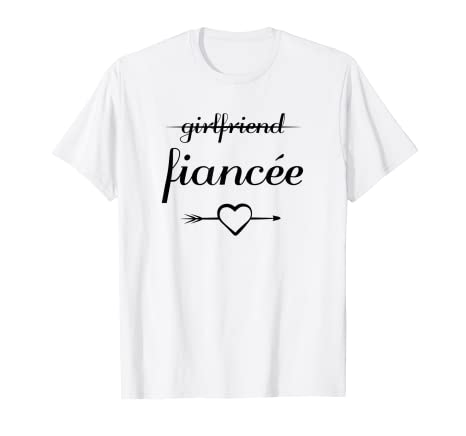 a0c89b43 Image Unavailable. Image not available for. Color: Girlfriend Fiancee T shirt  Fiance Engagement ...