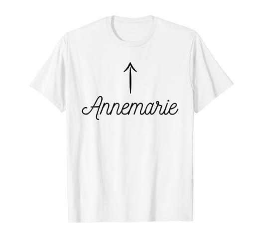 b5622bb11 Amazon.com: T-Shirt that says the name Annemarie | for Women Girls ...