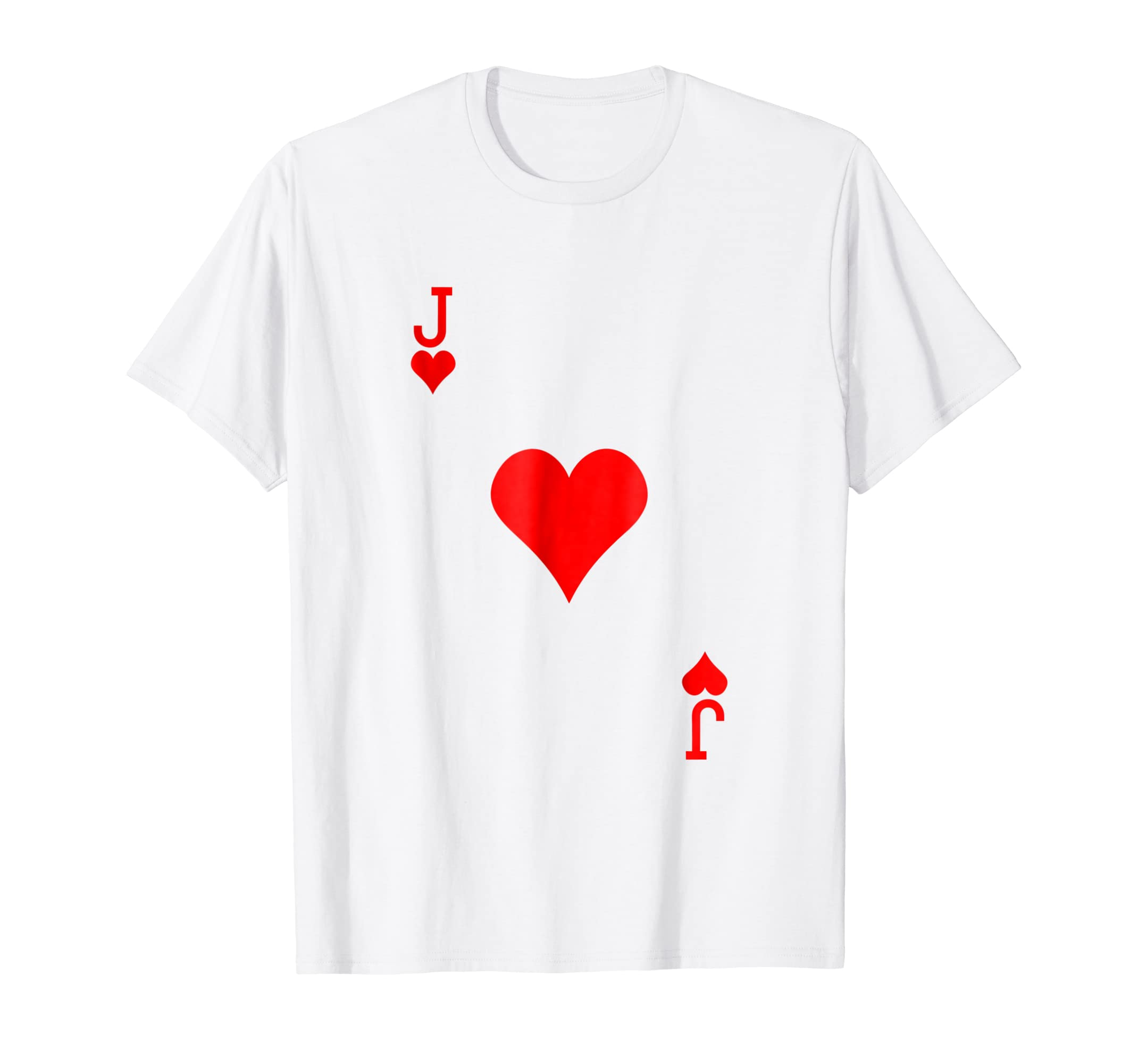 Jack of Hearts Costume Tshirt Halloween Deck of Cards-Teechatpro