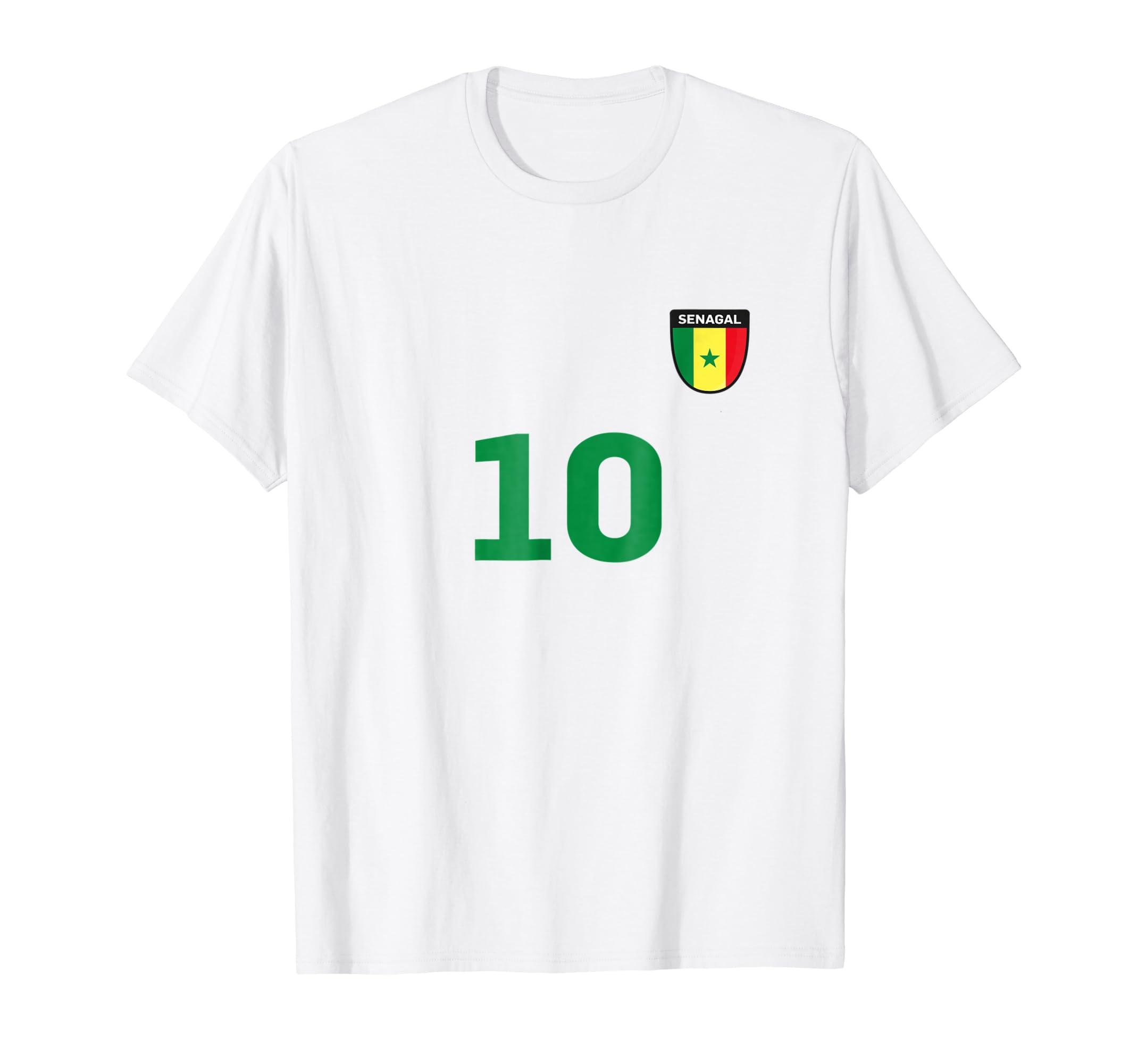 new product 9de6a f2c82 Amazon.com: Senegal Soccer Jersey World Football 2018 Fan ...
